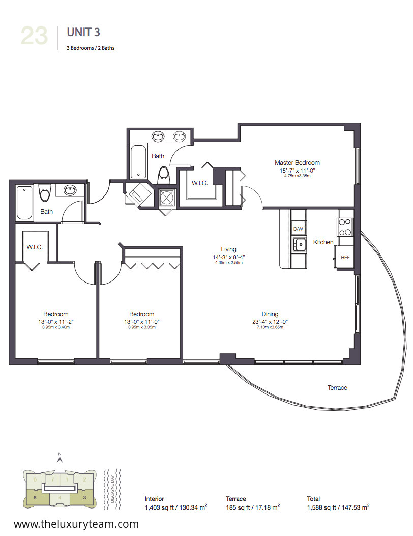 23 biscayne bay for Floor plans 900 biscayne