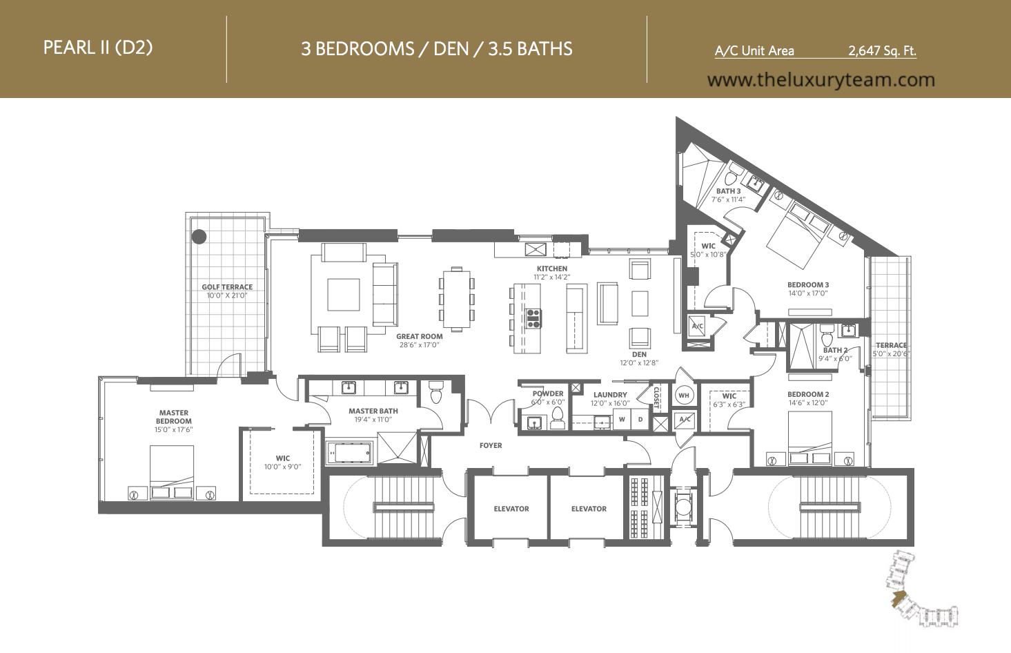 Akoya Floor Plans Miami Beach