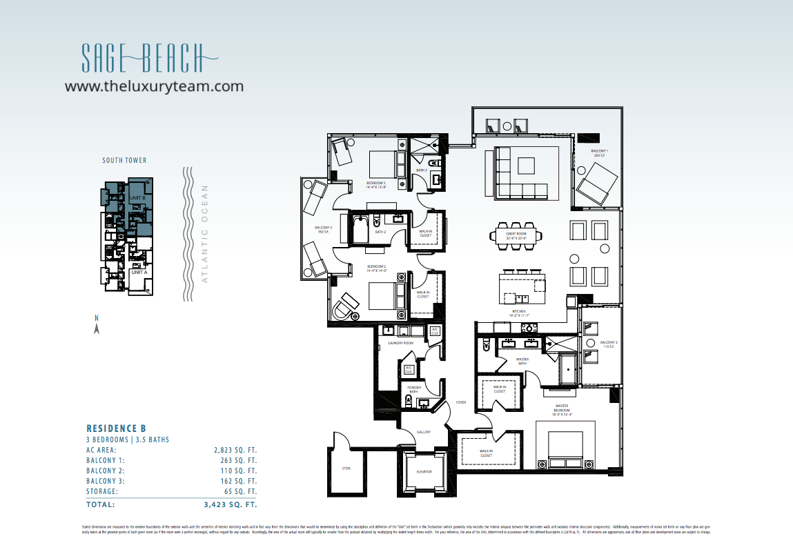 New condos at sage beach hollywood the luxury team for Sage floor plan